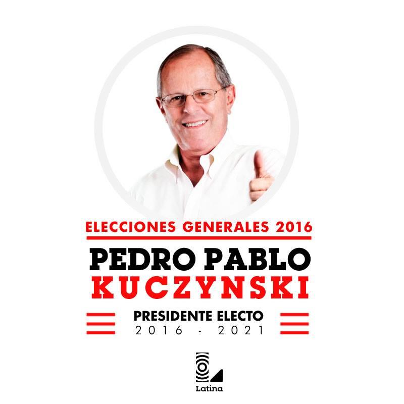 Último minuto: resultados de la ONPE al 100% dan como ganador a Pedro Pablo Kuczynski https://t.co/xYjktXaX9S