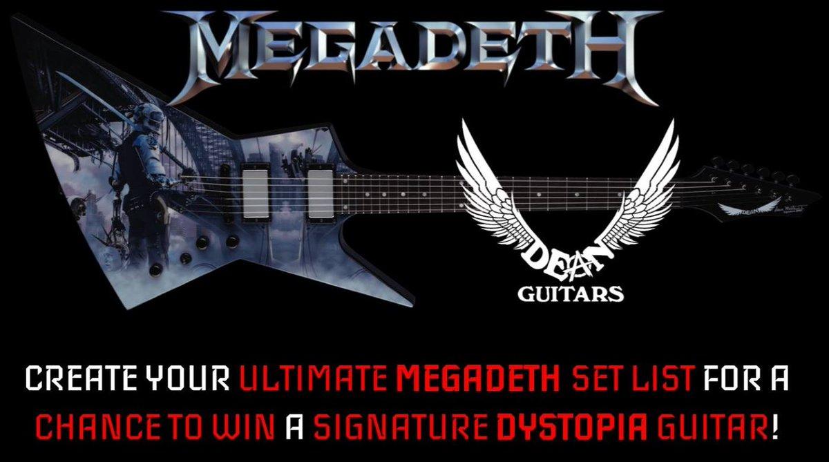 #DeanGuitars #WinAGuitar @DaveMustaine #Dystopia #Guitar #CreateASetList @Megadeth https://t.co/FEbBLTOFjA #Giveaway https://t.co/aGMd9HHVVt