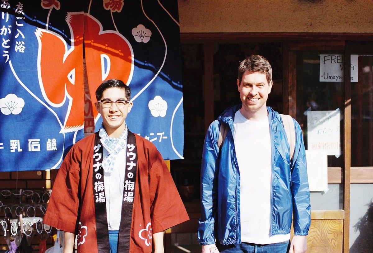 MUJI to GO 丸の内KITTEにて-6/30まで展示中の「HOW to GO」にご協力いただいた京都の銭湯「サウナの梅湯」番頭の湊さん。明日放送のフジテレビ「ザ・ノンフィクション」で特集されるそうです!(録画しなきゃ…) https://t.co/oEorVoVA6q