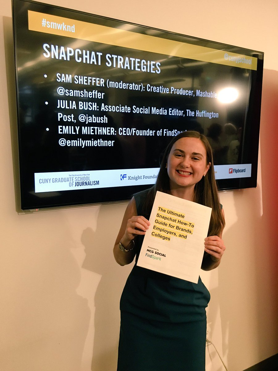 #SMWKND! Here's the Ultimate Snapchat How-To Guide for Brands, Employers, & Colleges: https://t.co/qigLquDTZ5 https://t.co/FdxjRaHqFf