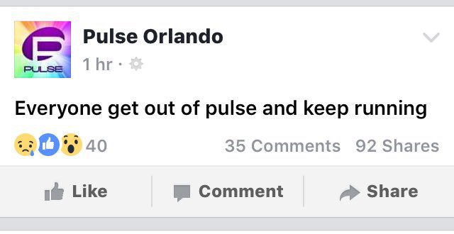 BREAKING NEWS: reports of  hostage situation at Orlando Night Club Pulse. 20 People are thought to have been shot https://t.co/HdS2uFtoIg