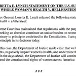 """AG Lynch """"pleased"""" with SCOTUS abortion ruling: """"We will continue to defend the constitutional rights of women."""" https://t.co/i5IyheHmRF"""