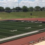 South end zone of new turf at Dick Bivins. https://t.co/SnPR4lkiBF