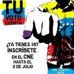 ¡No dejes que otros decidan por ti! Inscríbete en el CNE más cercano a tu región. #TuVotoCuenta https://t.co/GHF87T4ucF
