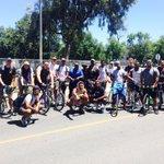 Coach Gould and the incoming freshman enjoying their Saturday with a bike ride. #ProudPapa https://t.co/XQvJjb4kqx