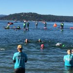 These athletes did not make the cut off time but crowd still went nuts went they got out of the water. #imcda703 https://t.co/rFN54RPUCA