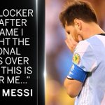 Lionel Messi has revealed that he may never play for Argentina again. https://t.co/7kyOyRrh0L #CopaAmerica https://t.co/iafmyIOe6U