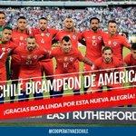 Envía tu saludo a @LaRoja bicampeona al WhatsApp de Cooperativa +56978880770 #CooperativaEsChile #ChilevsArgentina https://t.co/Eu8413SDHg