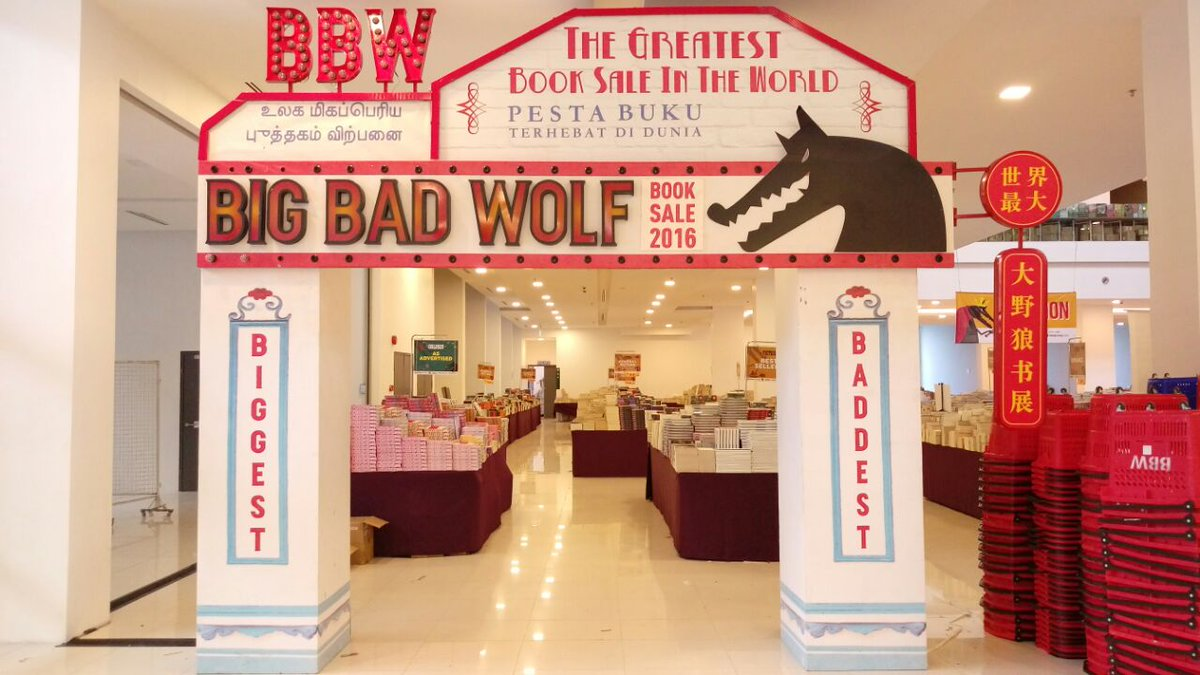 HELLO, SUBANG!! The Big Bad Wolf Book Sale is NOW OPEN 12 noon - 12 midnight, 16-26 June at TheSquare @ OneCity! https://t.co/Fa1r4vcOqn