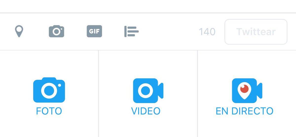 Por fin aparece directamente Periscope en los iconos multimedia: lo inmediato y lo transmedia, ahí es nada ;o) https://t.co/UWX2JwwxAJ