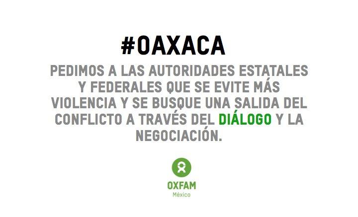 Sumamos nuestra voz para hacer un enérgico llamado a las partes involucradas en los acontecimientos de #Oaxaca https://t.co/LaEKfxhtQr