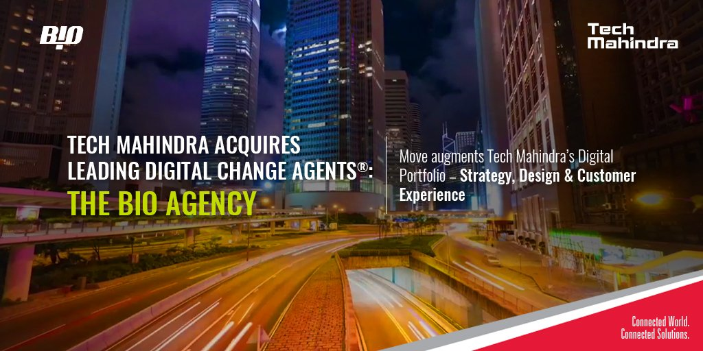 .@tech_mahindra augments its #DigitalStrategy portfolio by acquiring @theBIOagency  Follow: https://t.co/WeWesa9zR8 https://t.co/DstzEnxMNz