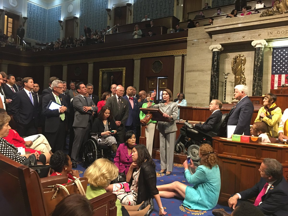 Photos from inside the House floor sit-in. #holdthefloor #enough #nobillnobreak https://t.co/OnhtZtcx64
