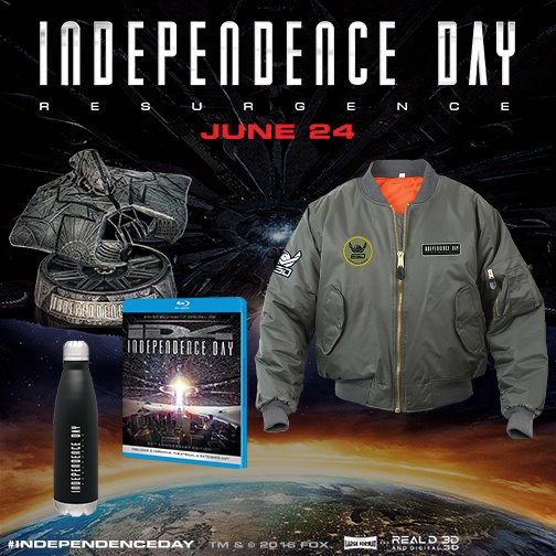 "FOLLOW & RT for a chance to #WIN an ""out of this world"" @IndependenceDay prize pack. Rules: https://t.co/GxYGnczL8U https://t.co/how42YDes9"