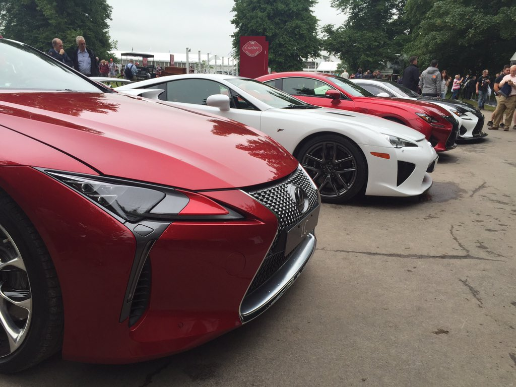 Lexus LC, LFA, RC F and RC F GT Concept. Take your pick. #GoodwoodFOS https://t.co/EX9FgoiyBc