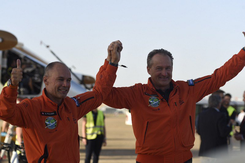 RT @lenews_ch: Swiss solar plane arrives in Spain after 71-hour Atlantic crossing