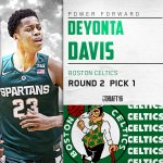 With the 31st pick in the #NBADraft, the Celtics select Deyonta Davis, out of MSU. He will be traded to Memphis. https://t.co/9KnDatkyvm