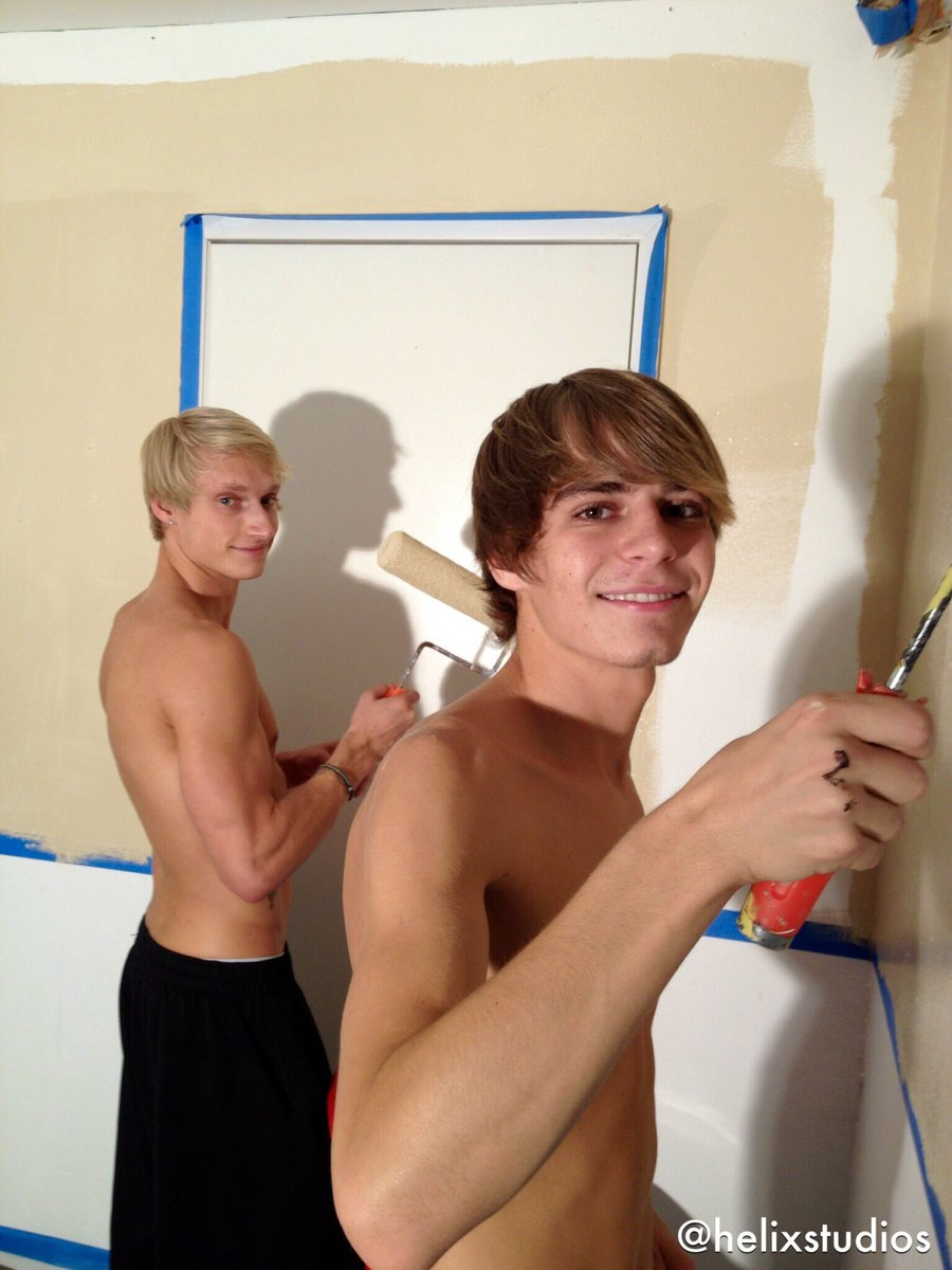 #TBT Kyle and Max painting the first Helix Academy classroom set 💪 j2ICrrwKRd