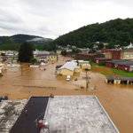 """8-12"""" of rain falling fast in parts of West Virginia and Virginia. Photo credit:Jeromy Rose Richwood, WV https://t.co/WH2Mi4POzb"""