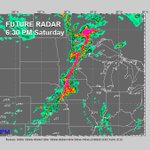 ⚠️ FUTURE RADAR: Strong / severe storms likely between 2 PM & 9 PM Saturday in southern Minnesota! #MNwx #Mankato https://t.co/1fe73hVqBZ
