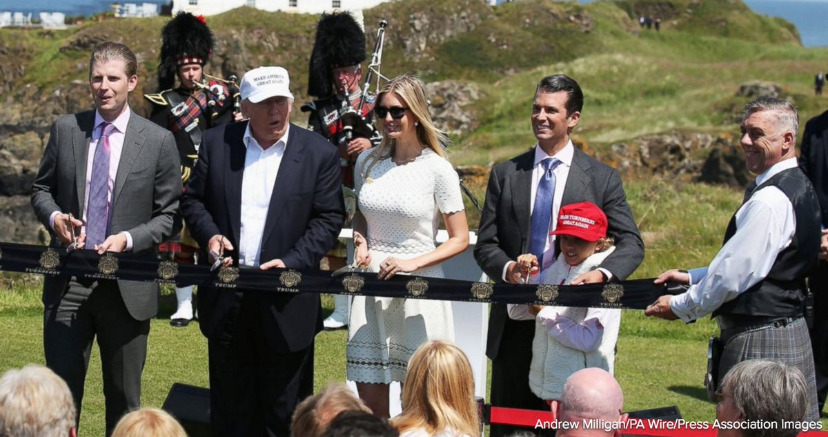 Donald Trump greeted by swastika golf balls in Scotland. https://t.co/Sj3R41UbBA