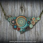 Bohemian pendant Statement necklace polymer clay  https://t.co/HXPuUUx1Xz    https://t.co/2kM61BZM1O  #handmade  #jewelry