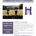 Official @HandsoffHRI Fun Run at The Stafflex Arena on 14th August. Come and join the fun! #Huddersfield https://t.co/A5QhrQW44d