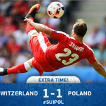 Shaqiri stunner sends #SUIPOL to extra time! #EURO2016 https://t.co/UPIiUr8NKA
