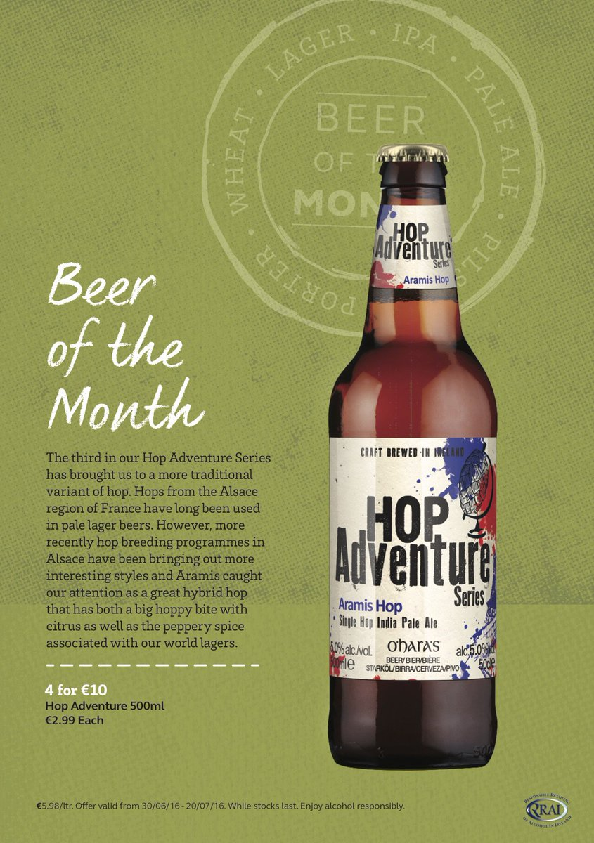 "Try our Beer of the Month"" this weekend! It's from the Hop adventure series. https://t.co/IZEzPhWyfV"