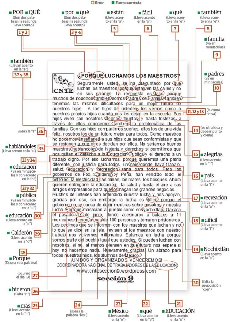 """Los """" maestros """" de #CNTE reparte volante con 38 errores de ortografía en #CDMX :( @ferbelaunzaran https://t.co/gSpsLuqTAU"""