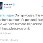 """There is a pattern behind this """"human error"""". #ShameAajTak https://t.co/gkOPUncnXp"""