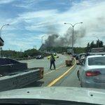 Smoke on MacKay bridge @hfxtraffic #hfx https://t.co/MP3oBSCtwU