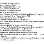 LA 6 PSC Y MADERA DE GUERRERO A LOS CIUDADANOS Y CIUDADANAS DEL ECUADOR Y A LOS INTEGRANTES DE LA UNIDAD: https://t.co/sa0aZ4lz6e
