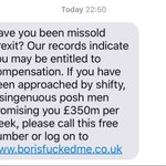 Youve probably seen this spoof text doing the rounds. But surely funny whether you voted Remain or Leave https://t.co/wBok5qHdE0