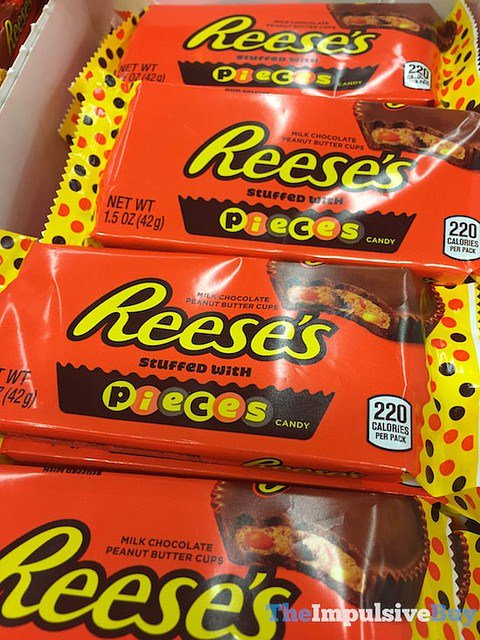 SPOTTED ON SHELVES: Reese's Peanut Butter Cups Stuffed with Reese's Pieces Candy https://t.co/YYaUUzpcbo https://t.co/QdyYG0ENhO
