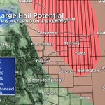 Large hail is once again one of our biggest threats from todays storms, especially for the plains. Be careful! https://t.co/SguazTLK2d