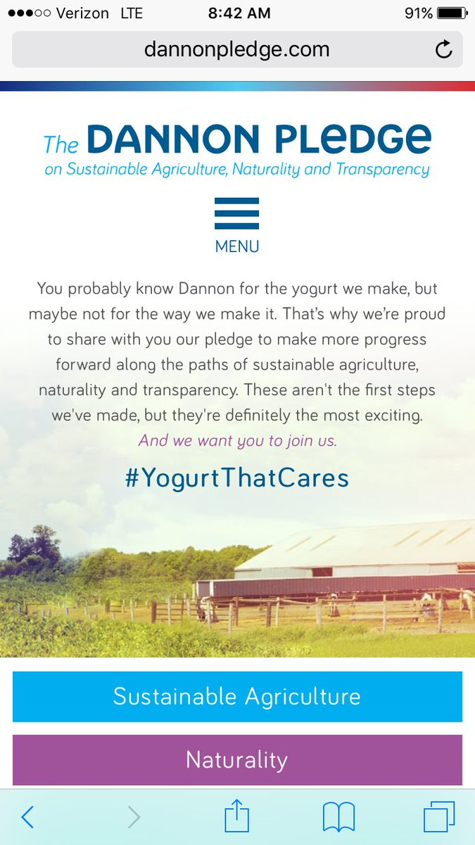 We're celebrating the #DannonPledge during  #DanoneDay2016 https://t.co/dqGjQHO20D
