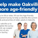 Help identify needs and priorities of older adults in Oakville. Take our survey: https://t.co/agmh1V9n65 https://t.co/ZgWWzjfjWh