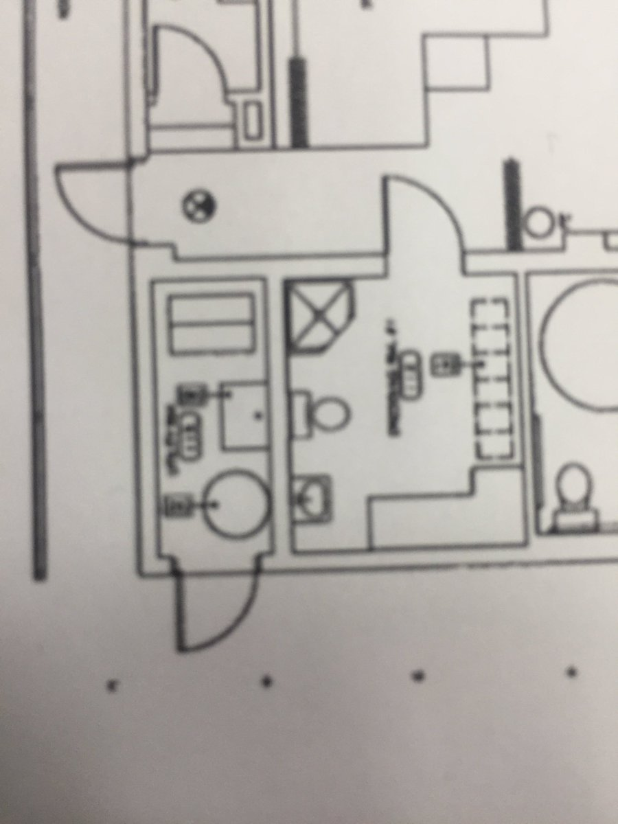 Blueprint Shows The Utility Room Had Water Heater And A Mop Sink