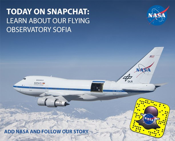 Today on @NASA Snapchat: Follow our story and see what it's like inside a flying observatory. #NASAbeyond https://t.co/KXrJXdZfBP