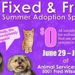Free pet adoptions available through July 5 🐶🐱  https://t.co/mqrfoNCi3L https://t.co/1giuLVzChw