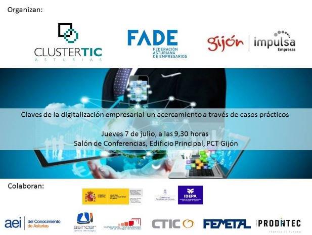 Claves prácticas de la #empresa #digital el 7/7 con @ClusterTICAstur @InnovacionGijon https://t.co/1pKyBbzuLf https://t.co/y8lh1uWP1t