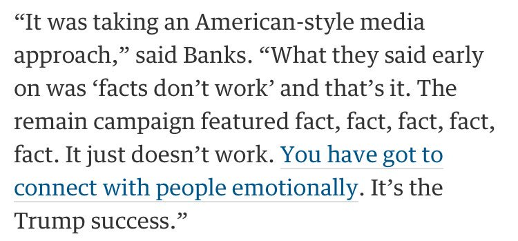 Arron Banks actually boasting about Leave's purposely counter-factual campaign: https://t.co/WgGdPZNST9 https://t.co/ZcU0IrPQUJ