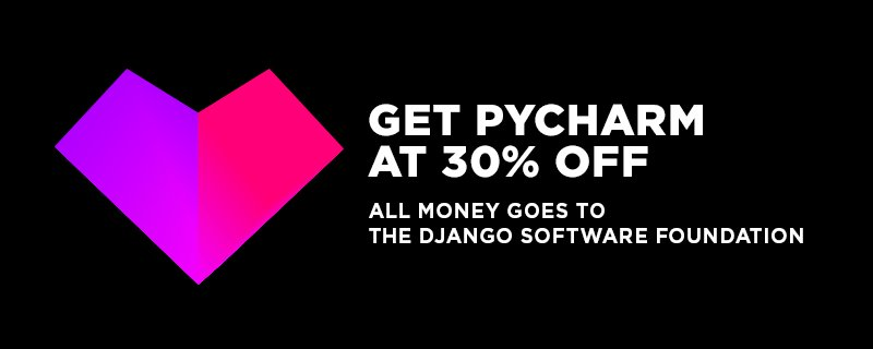 Want to support Django? Buy @Pycharm for 30% off with all proceeds going to the DSF! Details https://t.co/jwz0byk3GD https://t.co/jaAaoz6aCe