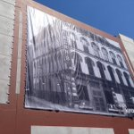 Banners w iconic images being installed on Walnut St. Garage - just in time for 1st Friday. https://t.co/sParVDSPZN https://t.co/0rkl6mezMt