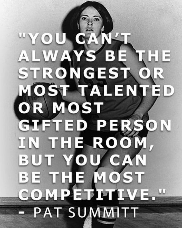 Greatest quote! Thank you for paving the way for women's athletics! https://t.co/zGB1mcLEY8