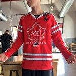 Joeys literally a walking Canadian flag today! ???? #CanadaDay ???????? https://t.co/afApfkcVKs