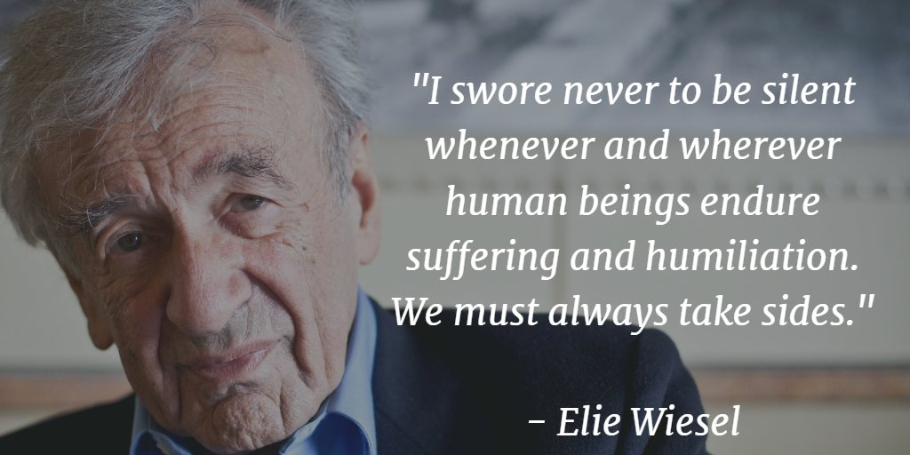 Elie #Wiesel, Nobel prize laureate, author, Holocaust survivor dies at 87 https://t.co/izQVsgzSTe https://t.co/EJjSh7vBvC