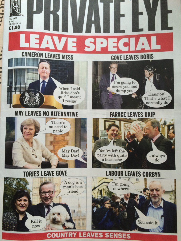 """Private Eye """"leave"""" special https://t.co/KNW6VHoEVm"""