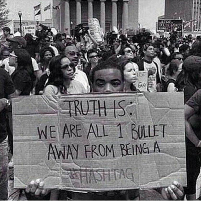 STOP KILLING BLACK PEOPLE!  #BlackLivesMatter #delrawnsmall #PhilandoCastile #FalconHeightsShooting #AltonSterling https://t.co/sfcvMpExrC